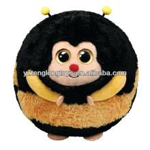 Unique design sphere smiley cartoon stuffed bee