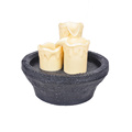 Table Fountain Candle 3pcs Round