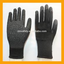 Schwarzer industrieller schwerer Arbeitsgriff Latex getauchte Handschuhe