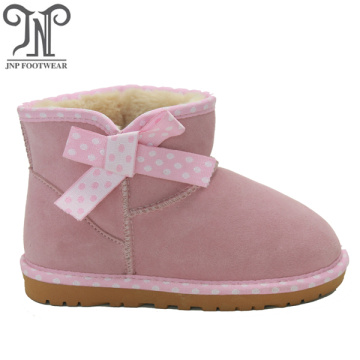 Girls Pink Lace Up Ankle Boots