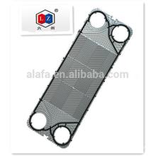Placa de titanio intercambiador de calor con materia prima japonesa