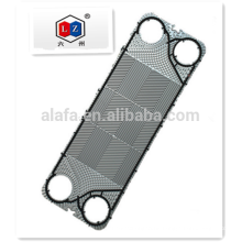 Titanium plate for heat exchanger with Japanese raw material