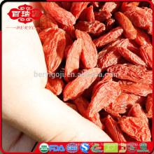 Bayas orgánicas de goji frutas secas mayorista