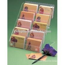 Visitenkarten-Visitenkartenhalter aus Acryl, klarer Prospekthalter