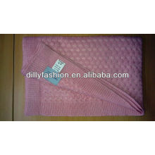 knitted cable silk cashmere baby blankets