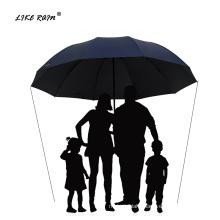 LIKE RAIN 130CM Large Golf Umbrella Rain Women Windproof Large Folding Umbrella High Quality Men Business Double Umbrellas UBY28