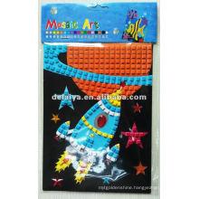 Children DIY mosaic foam sticker for Rocket