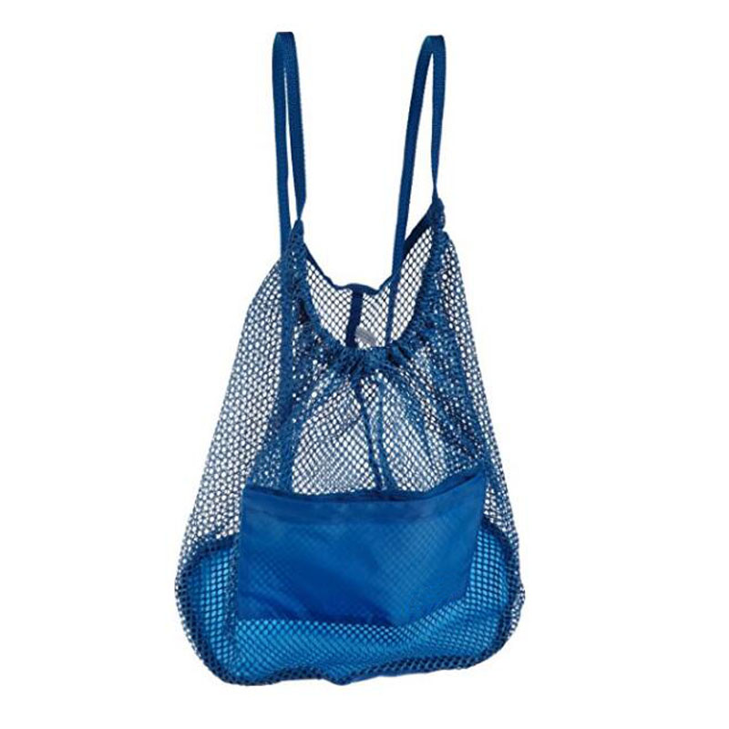 Light Blue Mesh Backpack