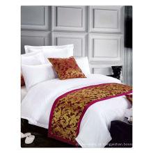 200-400T algodão egípcio puro branco hotel de 5 estrelas conjunto de roupa de cama
