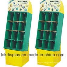 9 Cells Merchandiser Cartón Display Racks, Paper Stands