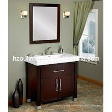 Tocador de baño de madera maciza (BA-1105)