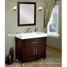 Meuble-lavabo en bois massif (BA-1105)