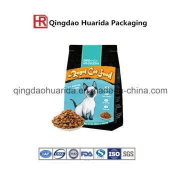 Bolsa de plástico para envasado de alimentos para mascotas con cremallera