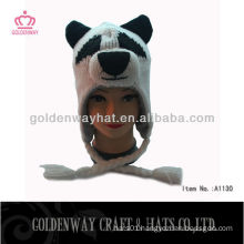 2013 Hot Selling Winter Knitting Hats with Animal Pattern
