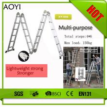 6step 6.8m escadas dobráveis de alumínio