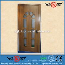 JK-P9098pvc bathroom door price/pvc window and door profile door /wardrobe door laminate design