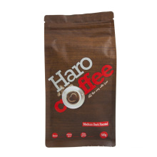 Resealable Zipper Box Pouch Coffee Bag with Valve Hot Sealable Foil Packaging Bags Aluminum Foil Food Package Stand up Pouch