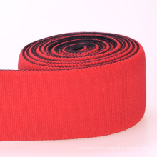 Elastic Red Polyester/Nylon/Cotton Strap Elastic with Ends