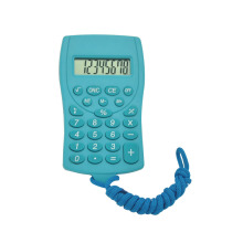 8 Digital Mini Lanyard Pocket Calculator for Children