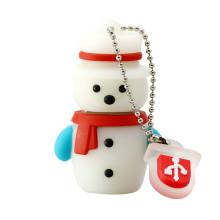 Boneco de neve fofo de Natal pen drive