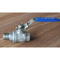 Punho da válvula de bola do aço inoxidável de 2PC-Mf com fechamento
