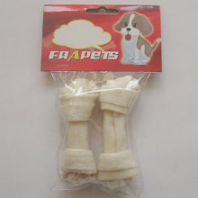 """Pet Products 4""""-4.5"""" White Bleached Knot Bone Dog Chew"""