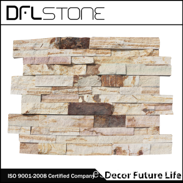 Sistemas de Ledgerstone natural de la superficie áspera para la pared exterior