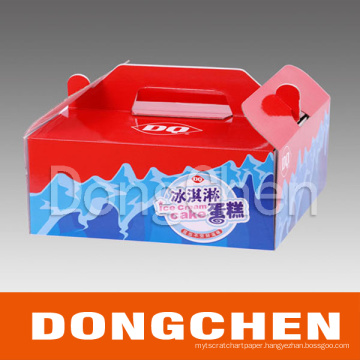 Printed Color Cake Paper Gift Box Package