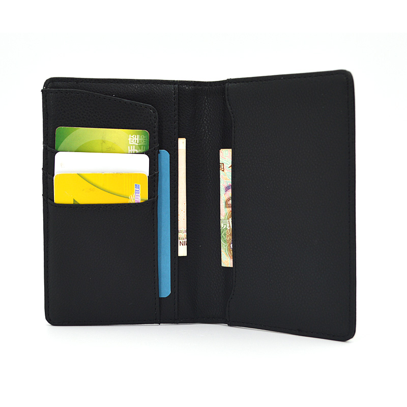 Men Premium Custom Logo Folding Passport Card Holder