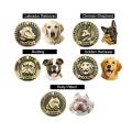 Tag de cão de cobre de alto relevo