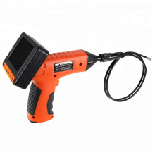 Wireless battery powered industrial endoscopy camera with 6 LED for gutter duct inspection