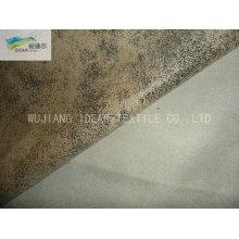 105 * 300 D microfibra poliester urdimbre tela del ante para el sofá