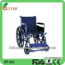 medical use/ hospital use folding steel wheelchair