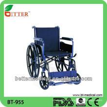 Ручная стальная компактная инвалидная коляска