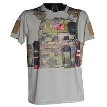 Lobo esclavos deporte táctico militar Python camiseta Camo t-shirt