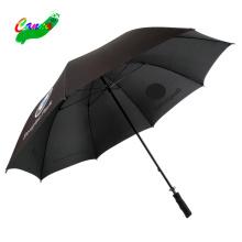 Auto-Markenlogo druckt maßgeschneiderte Qualität Werbegeschenk schwarze Farbe Marke Toyota Gummigriffspitzen Regenschirm