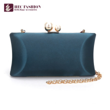 HEC New China Produkte Fashion Green Kleine Satin Schultertasche für die Dame