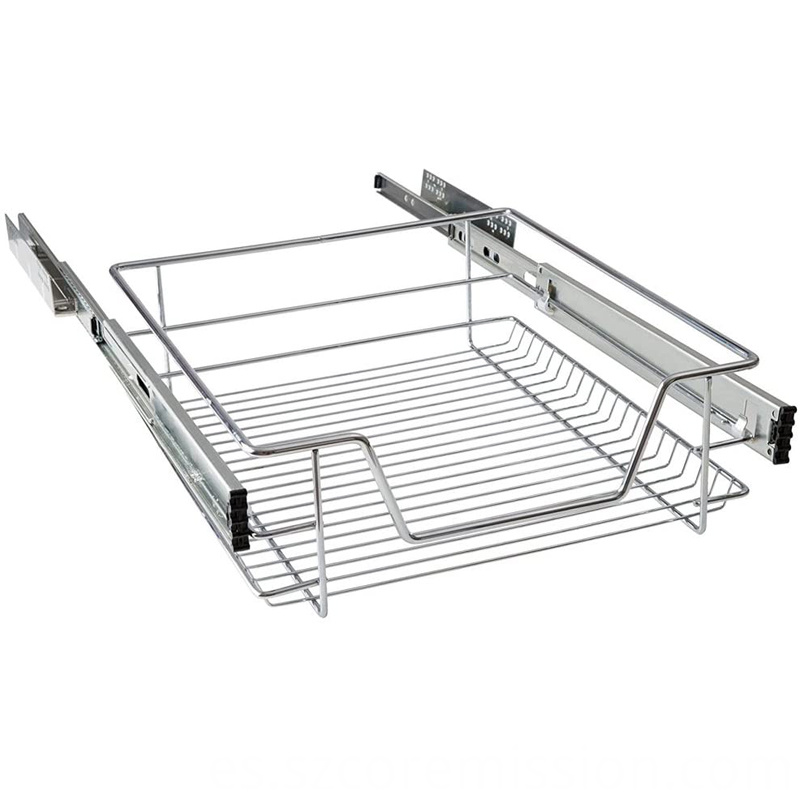 Chrome Coated Telescopic Pull Out Wire Storage Basket