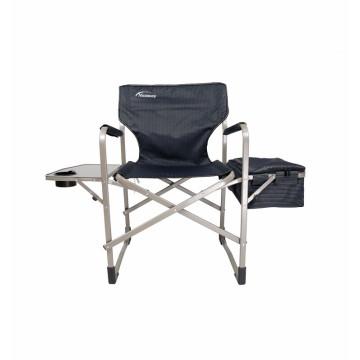 Director portátil que acampa al aire libre con la silla plegable de acero del apoyabrazos