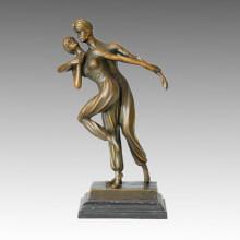 Estatua de bailarín doble persa Escultura de bronce, DH Chiparus TPE-192