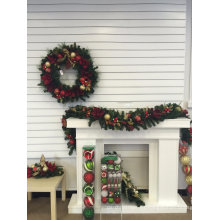 Pre-Lit Navidad Center Piece con adornos y Deco (gama completa)