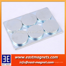 4 oder 6 Stück Scheiben Neodym-Magnet mit abgerundeten Kanten Stahl / Montage N50 ndfeb Magnet mit Stahl für die Industrie