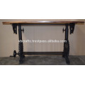Dessus industriel Crank Gear Base Table de restaurant Recycled Wood Top