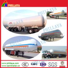 Semi reboque do tanque LPG da pressão do transporte do armazenamento de gás 52cbm