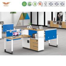New Design Office Wooden Desk Workstation with Metal Legs (H90-0215)