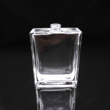 Flacon de parfum en verre carré transparent de 100 ml