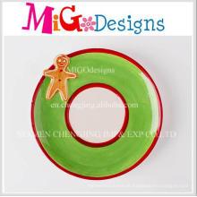 Placa nova cerâmica do presente de Natal do projeto da forma