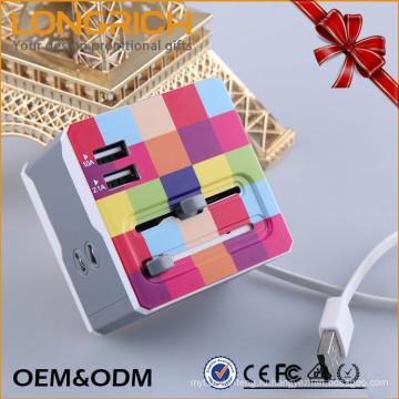 Модный оптовый всемирный адаптер питания 5 Вт Usb с разъемом Ul / Eu / Uk / Au / Ccc