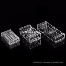 support de tube à essai acrylique de laboratoire 23mm * 40 puits
