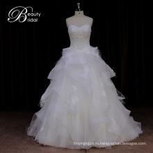 Dorisquees Alibaba Онлайн Горячее Платье Венчания Organza Сбывания От Китая